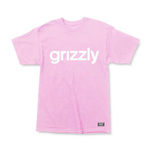 GRIZZLY LOWERCASE TEE - PINK/WHITE