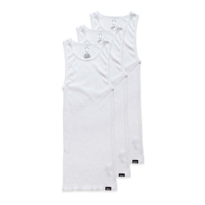 GRIZZLY TAGLESS A-SHIRTS (3-PACK) - WHITE
