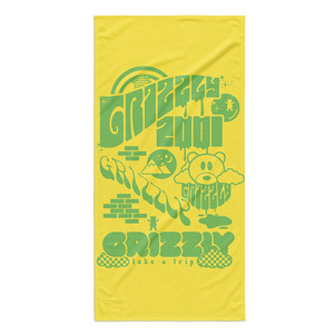 GRIZZLY TRIPPING TOWEL - YELLOW