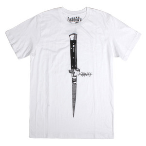 ASHBURY SWITCHBLADE TEE WHITE